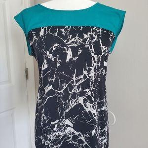 Calvin Klein cap sleeve blouse